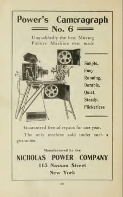 Sydney S. Cohen, Peter Crown, 1910 movie theater theatre projector